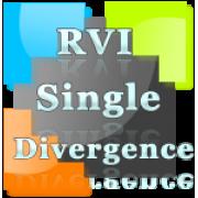 RVI divergence indicator with alert for NinjaTrader 8.