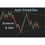 Auto trend line indicator and Market Analyzer with crossover alert for NinjaTrader 8