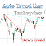 Auto Trendline, Upper Descending Trend line indicator with alert for Tradingview