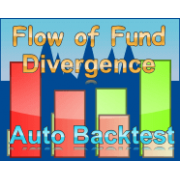 Flow of Fund divergence indicator for Ninjatrader 8 with auto self backtest and alert.