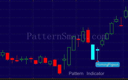 Homing Pigeon Pattern data mining result (2014 Daily, Bullish reversal)